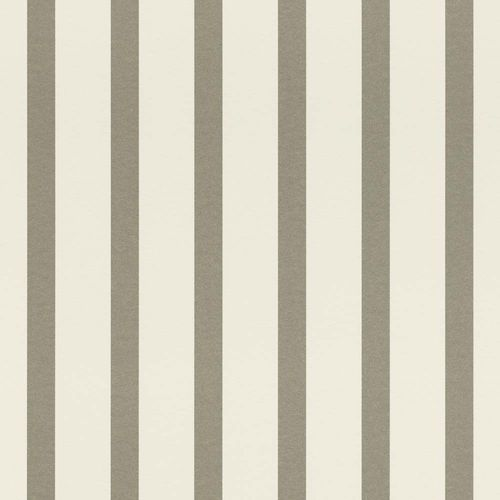 Wallpaper Stripes white silver Gloss Rasch Textil 289762