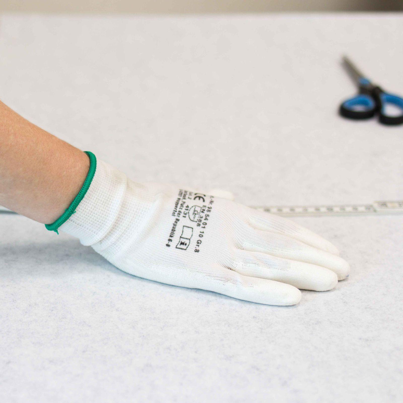 Arbeitshandschuhe 1 Paar Montagehandschuhe Senso Grip weiß PU Malerhandschuh