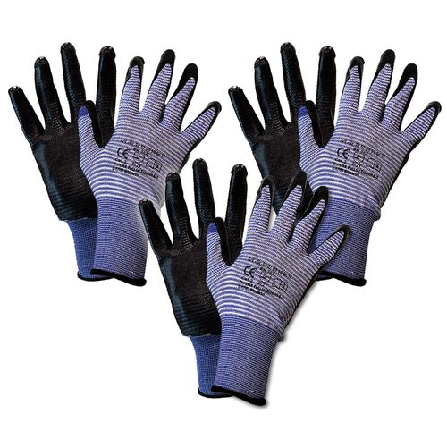 Work Gloves nitrile water resistant Aqua Grip | 2 Sizes
