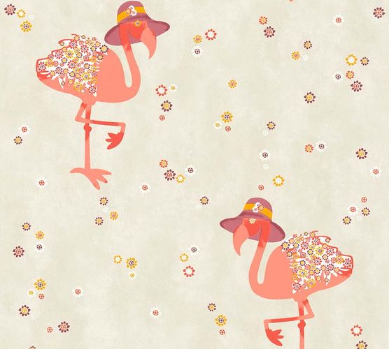 Non-Woven Wallpaper Flamingo beige pink livingwalls 36291-2 online kaufen