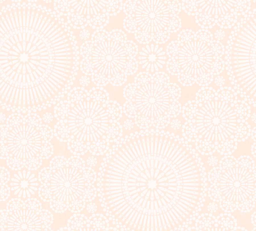 Non-Woven Wallpaper Mandala pink white livingwalls 36295-1 001