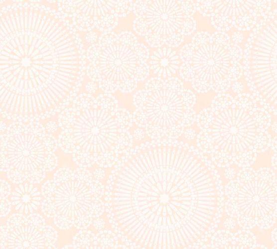 Non-Woven Wallpaper Mandala pink white livingwalls 36295-1 online kaufen