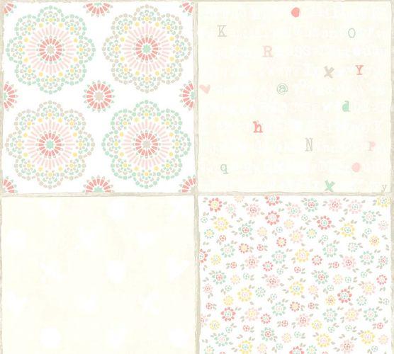 Non-Woven Wallpaper Tile Look white pink livingwalls 36296-2 online kaufen
