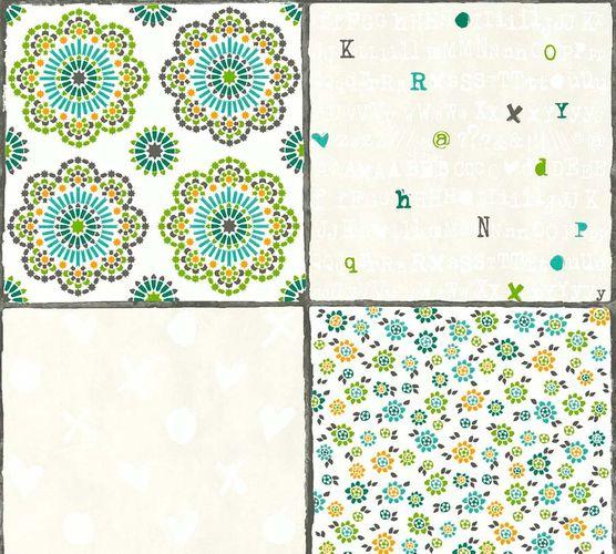 Non-Woven Wallpaper Tile Look white beige livingwalls 36296-3 online kaufen