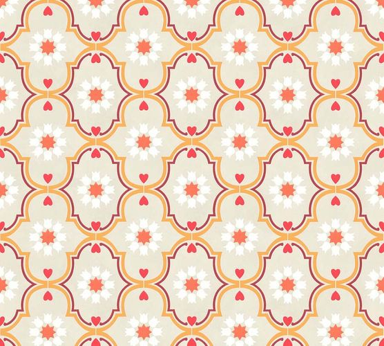 Non-Woven Wallpaper Ornaments beige yellow livingwalls 36297-2