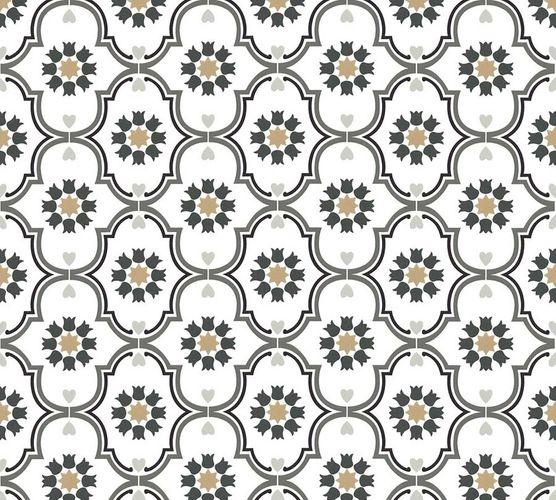 Vliestapete Ornament weiß grau livingwalls Cozz 36297-4 online kaufen