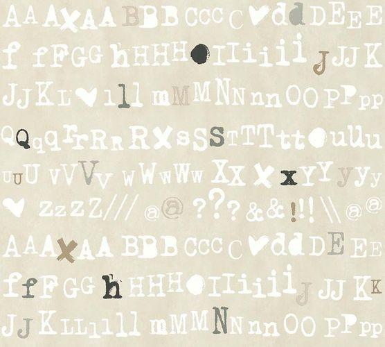Non-Woven Wallpaper Lettering beige grey livingwalls 36298-3 online kaufen
