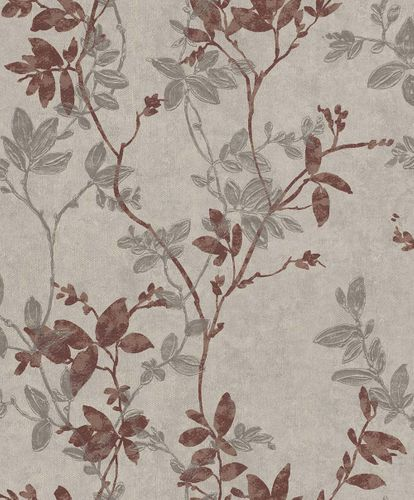 Non-Woven Wallpaper Leaves beige-grey Rasch Textil 096715 online kaufen