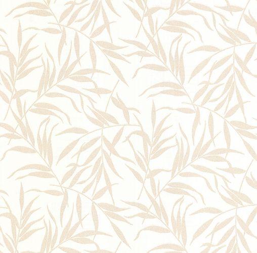 Non-Woven Wallpaper Leaves white gold Glitter 13703-60 online kaufen