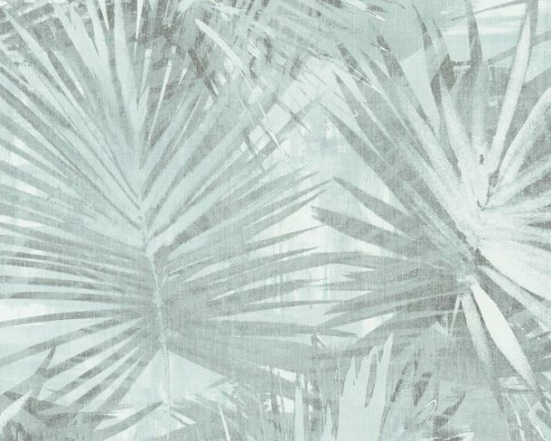 Non-Woven Wallpaper Palm Leaves turqoise livingwalls 36385-3 online kaufen
