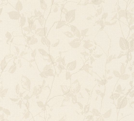 Non-Woven Wallpaper Leaves brown-grey livingwalls 36397-4