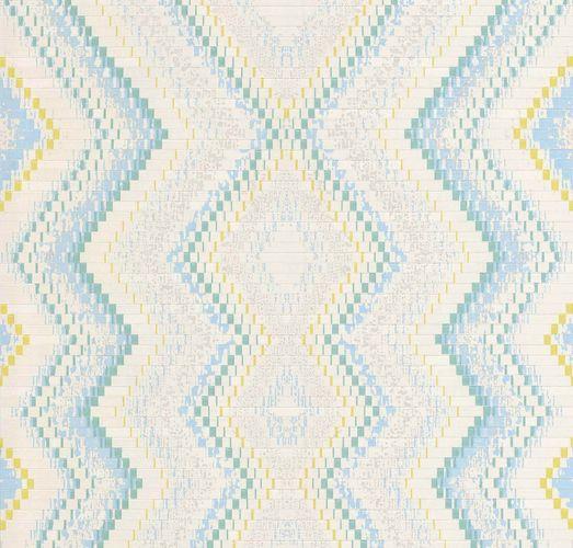 Wallpaper Guido Maria Kretschmer ethno cream blue 02545-30