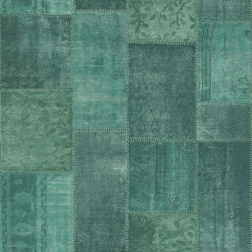 Vliestapete Patchwork Flicken grün World Wide Walls 148652 online kaufen