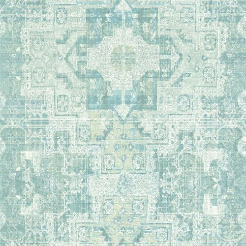 Non-Woven Wallpaper Boho Retro turqoise 148658 online kaufen