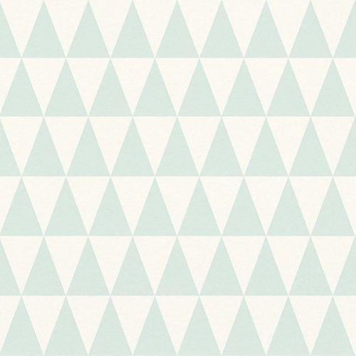 Non-Woven Wallpaper Triangle turqoise 148669 online kaufen