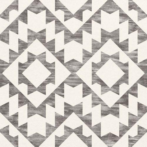 Vliestapete Ethno Vintage schwarz weiß 148677