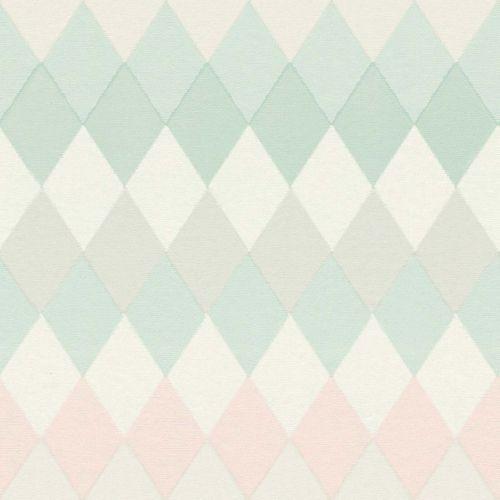 Non-Woven Wallpaper Rhombus green pink Rasch Textil 148679 online kaufen
