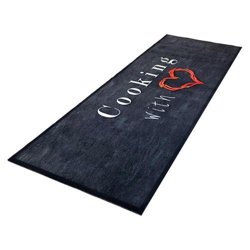 Kitchen Runner Rug Carpet Mats Cooking with Love | washable online kaufen