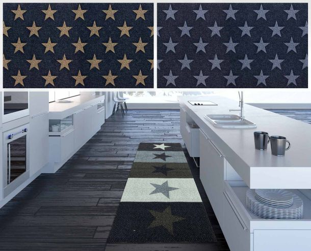 Kitchen Runner Rug Carpet Mats Stars Starlet | washable online kaufen
