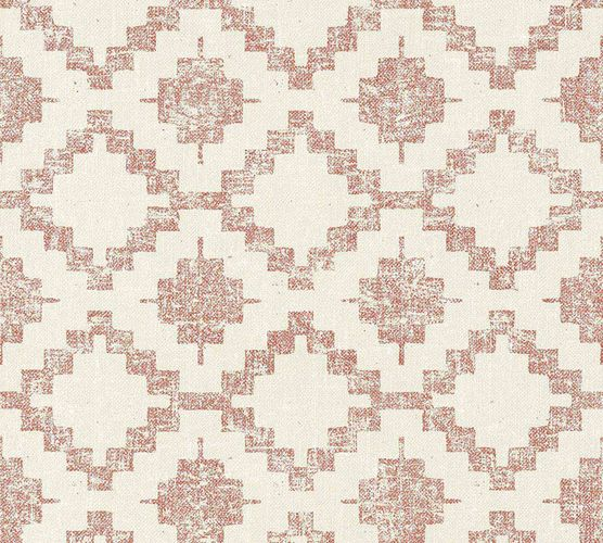 Non-Woven Wallpaper Boho cream-beige red livingwalls 36375-3