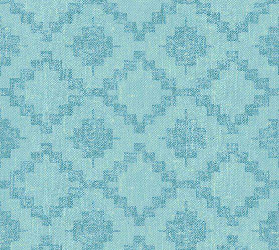 Non-Woven Wallpaper Boho light blue blue livingwalls 36375-4