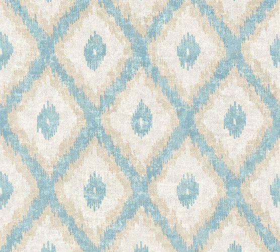 Non-Woven Wallpaper Ethno blue beige livingwalls 36376-3 online kaufen