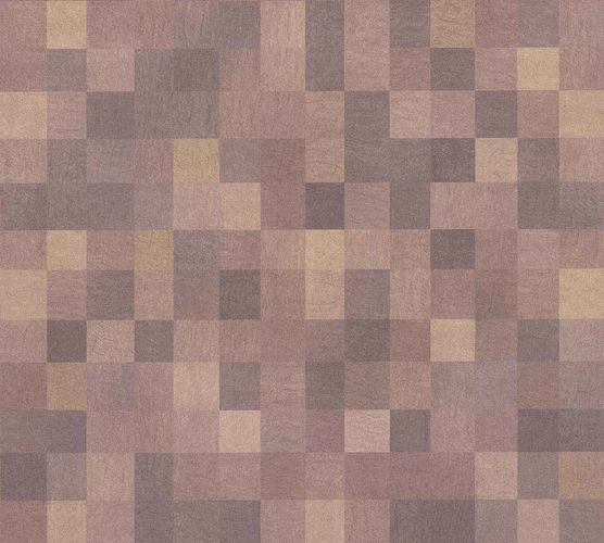 Non-Woven Wallpaper Mosaic Tiles brown livingwalls 36390-2