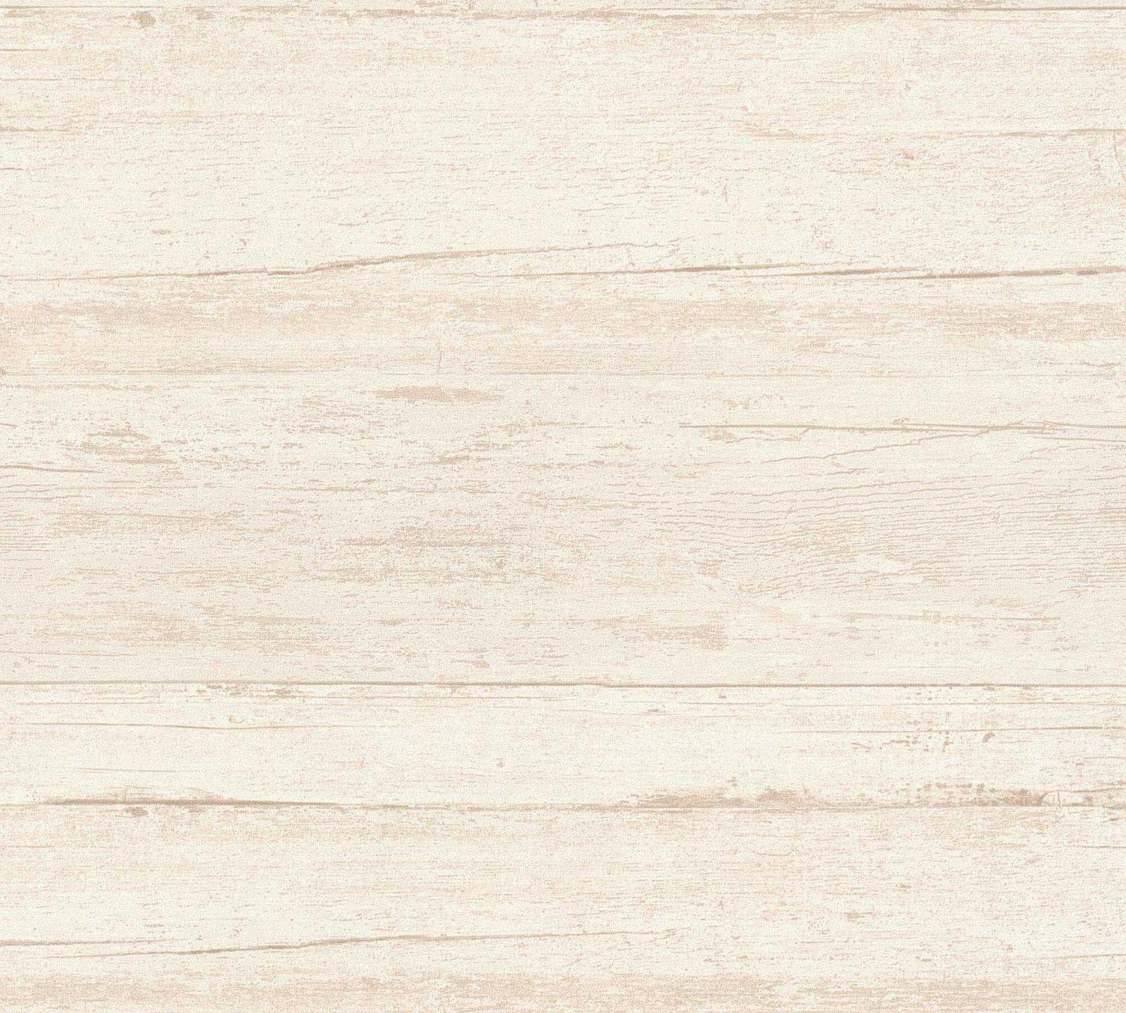 Vliestapete Holz-Optik Cremebraun Livingwalls 36394-4