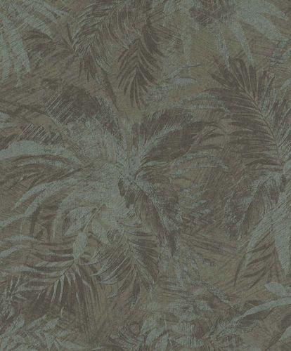 Vliestapete Dschungel grau grün Glitzer Rasch Textil 229102