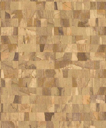 Non-Woven Wallpaper Blocks beige Glossy Rasch Textil 229348 online kaufen