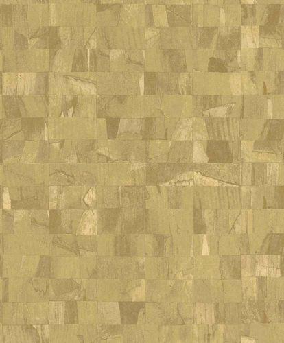 Non-Woven Wallpaper Blocks yellow Glossy Rasch Textil 229355