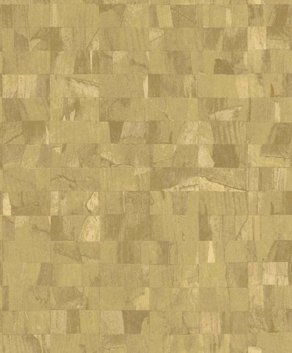 Non-Woven Wallpaper Blocks yellow Glossy Rasch Textil 229355 online kaufen