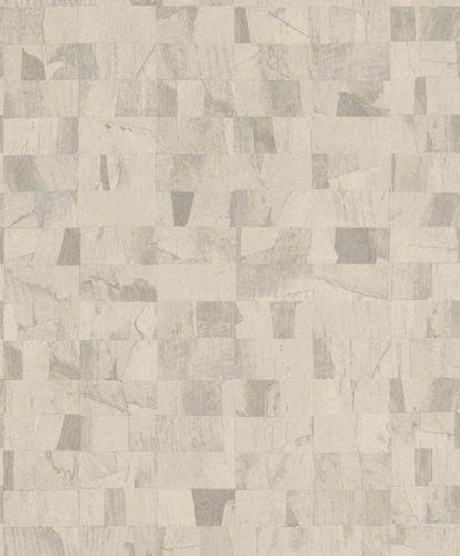 Non-Woven Wallpaper Blocks cream Glossy 229362