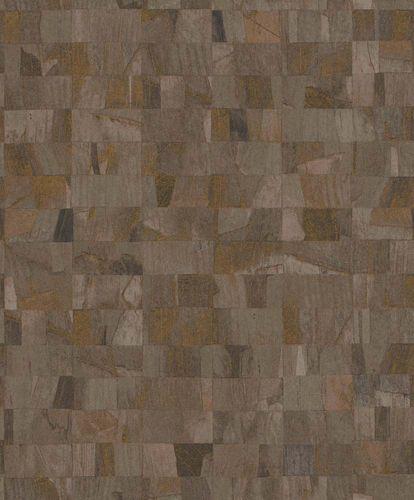 Non-Woven Wallpaper Blocks brown Glossy Rasch Textil 229379