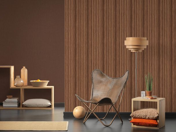 Wallpaper textured plain brown AS Creation 36328-1 online kaufen