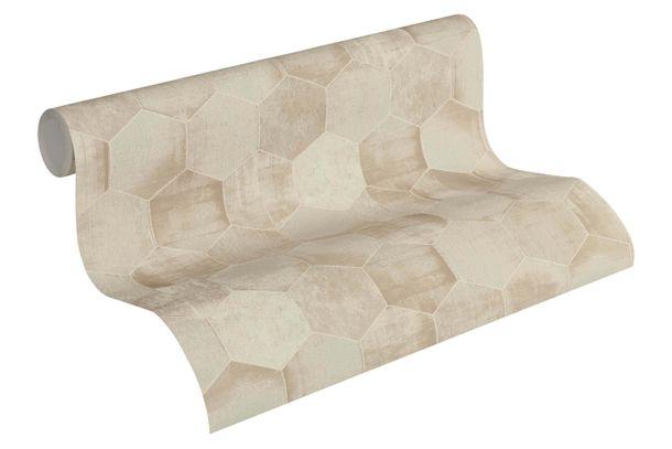 Wallpaper patina combs beige cream gloss AS Creation 36330-1 online kaufen