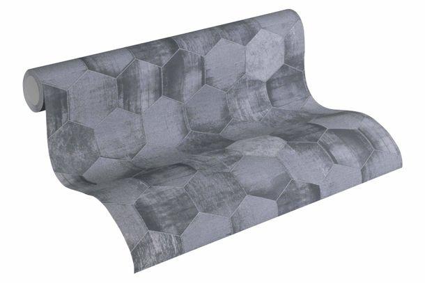 Wallpaper patina combs grey gloss AS Creation 36330-3 online kaufen