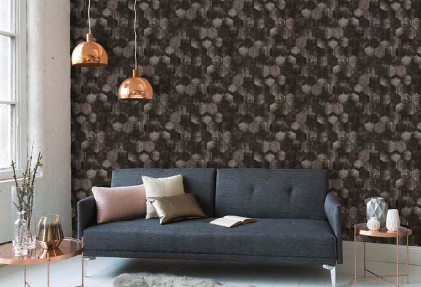 Wallpaper patina combs anthracite gloss AS Creation 36330-4 online kaufen