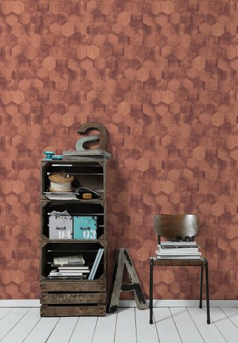 Wallpaper patina combs copper gloss AS Creation 36330-5 online kaufen