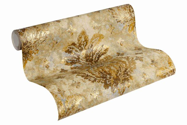 Wallpaper floral vintage gold gloss AS Creation 36456-1 online kaufen