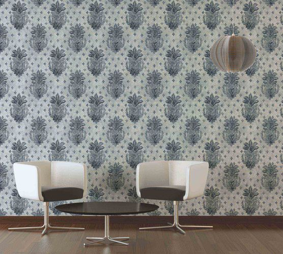 Wallpaper floral vintage grey gloss AS Creation 36456-3 online kaufen