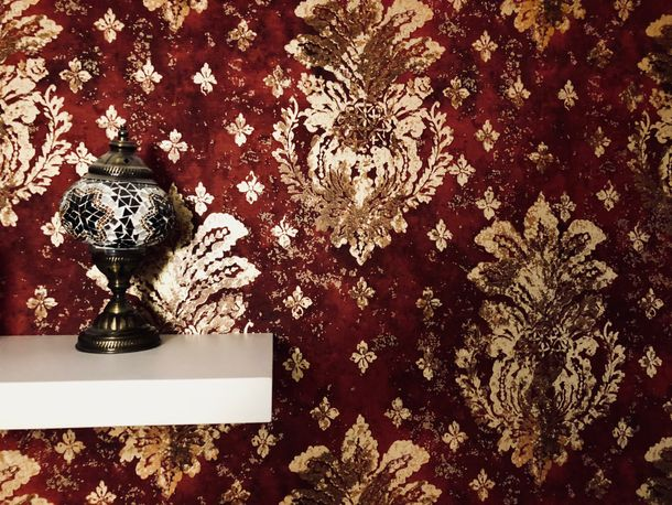 Wallpaper floral vintage red gloss AS Creation 36456-4 online kaufen