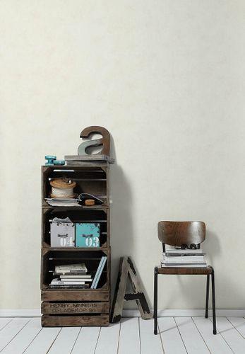 Vliestapete Uni Textil Design cremeweiß AS Creation 36457-1