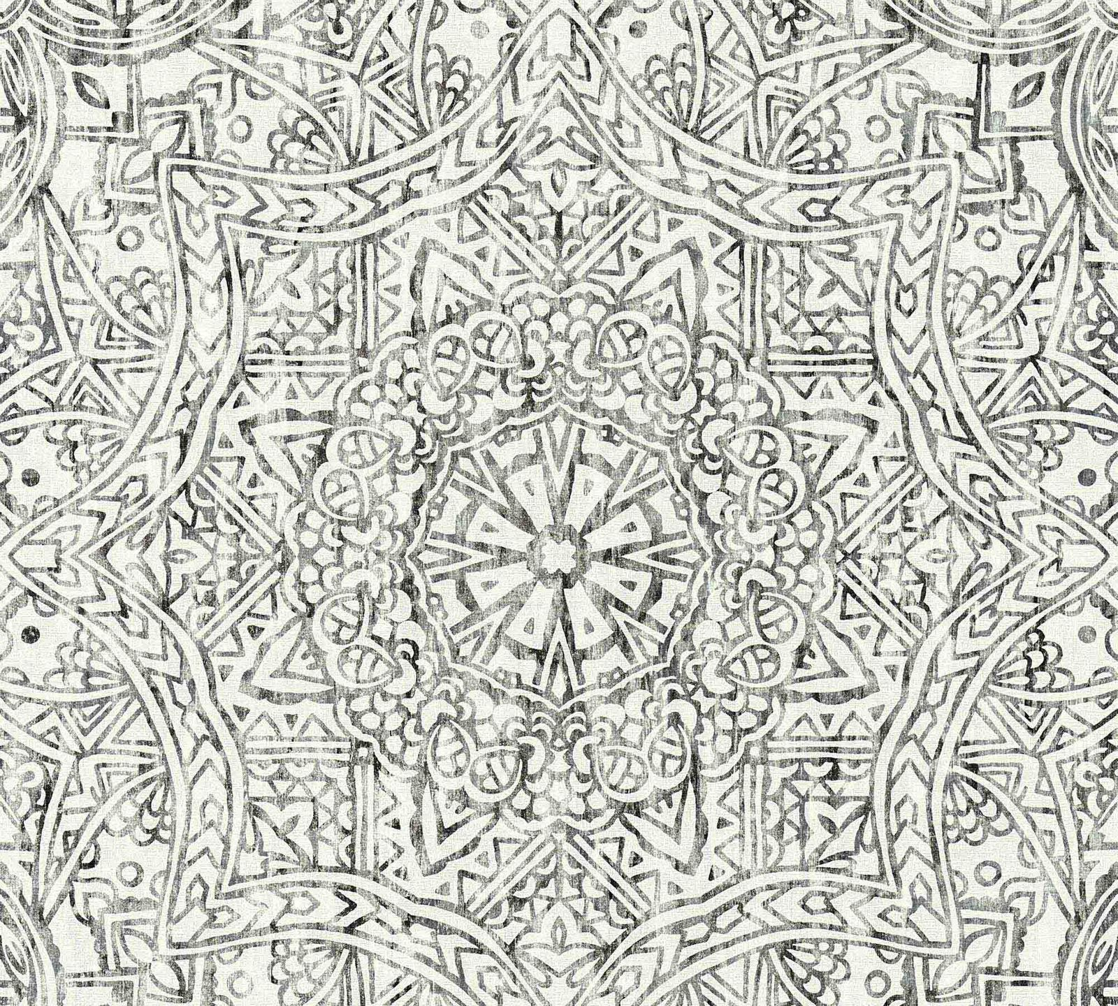 Wallpaper Boho Mandala Black White As Creation 36461 3