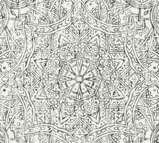 Wallpaper boho mandala black white AS Creation 36461-3 online kaufen