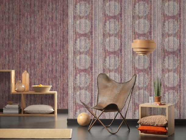 Wallpaper boho stripes red colourful AS Creation 36462-1 online kaufen