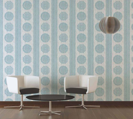 Wallpaper boho stripes turquoise white AS Creation 36462-4 online kaufen