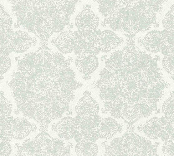 Wallpaper boho ornament grey white AS Creation 36463-1