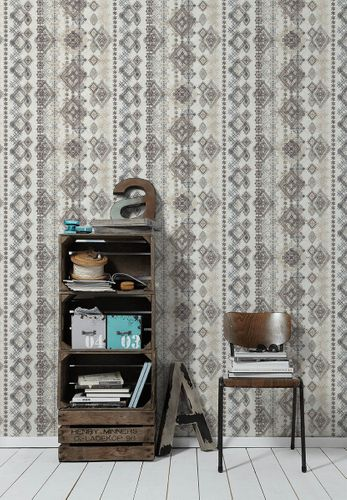 Wallpaper boho rhombs brown beige AS Creation 36466-2 online kaufen