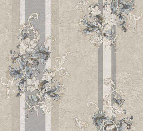 Ambrosia Vliestapete Ranken beige blau glanz 104929 online kaufen